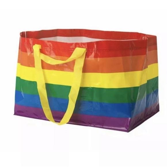 648fb7765c44 IKEA Rainbow LGBT Gay Pride Tote bag carryall NEW NWT